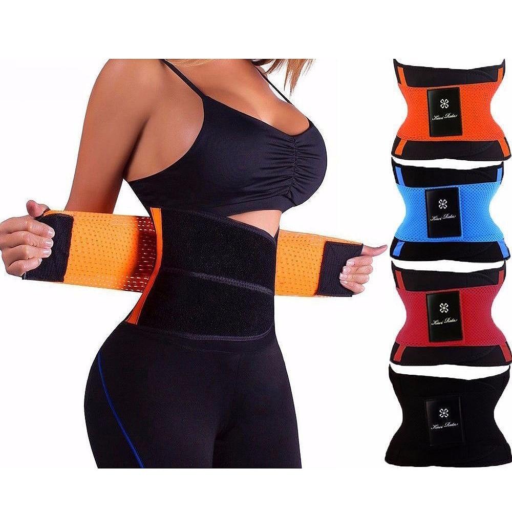Caliente modificadores mujeres adelgazamiento cuerpo shaper cinturón de cintura fajas firme Control entrenador de la cintura corsés plus tamaño Shapwear de correa