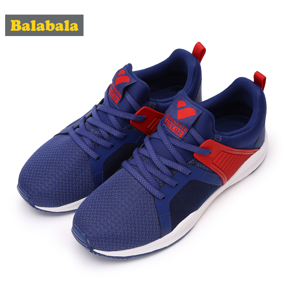 Balabala Kid Sneaker Sport Running Shoes for Boys Girls Lightweight Soft TPU Bottom Non-Slip Wear-Resistant Child Sports Shoes 2016 spring child sport shoes leather boys shoes girls wear resistant casual shoes