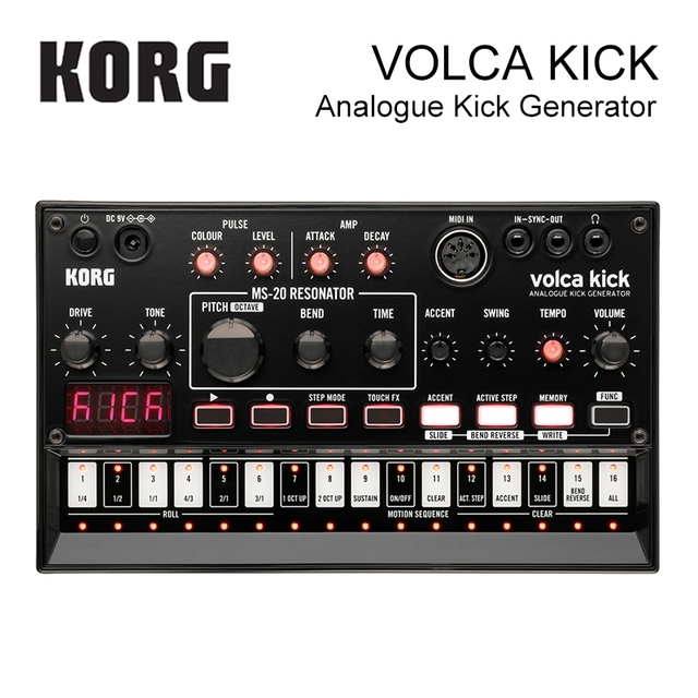 Korg Volca Kick-Key Synthesizer Analogue Kick Generator