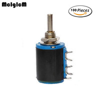 McIgIcM 100pcs WXD3 12 1W 5 Ring Multi Circle Precision Wire Wound Potentiometer 100 Ohm 1K