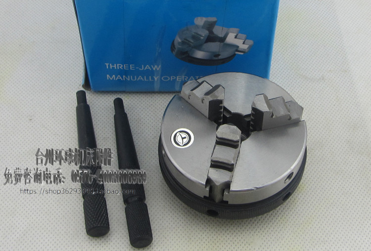 ФОТО 3 jaw self tightening chuck K01-80B Stop 16MM 3-M5 thread link small woodworking hand chuck