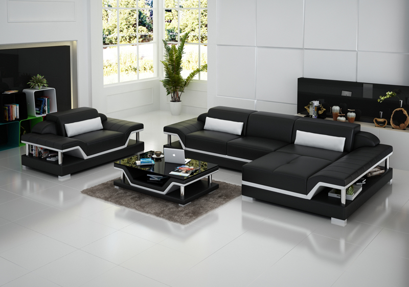 Italian Style Modern Sofa Living Room Furniture Leather