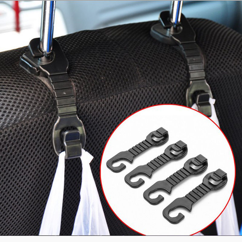 1 pair car back seat headrest hanger holder hooks for bag purse cloth grocery storage auto. Black Bedroom Furniture Sets. Home Design Ideas