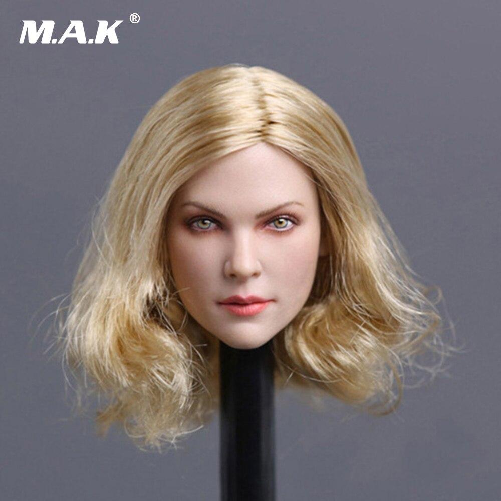 """1//6 Scale Female Head Sculpt longs cheveux blonds pour 12/"""" Figure Doll PHICEN"""