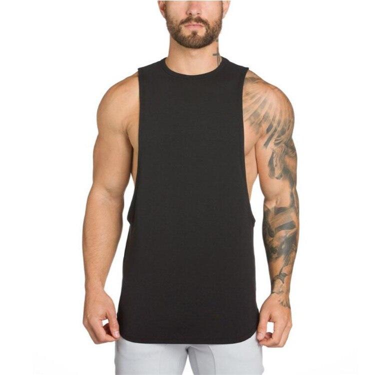 Brand Gyms Stringer Clothing Bodybuilding Tank Top Men Fitness Singlet Sleeveless Shirt Solid Cotton Muscle Vest Undershirt 25