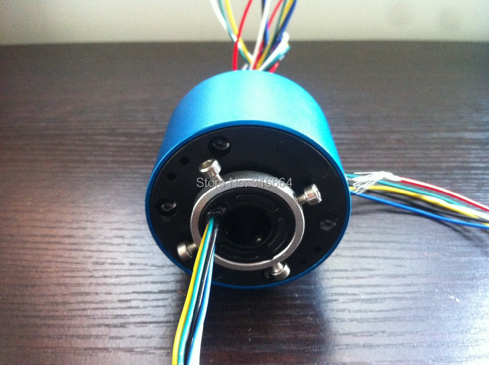 0.5'' inch Through bore slip ring rotary joint slip ring Connector ID12.7mm OD:54mm 6 circuits X 5A