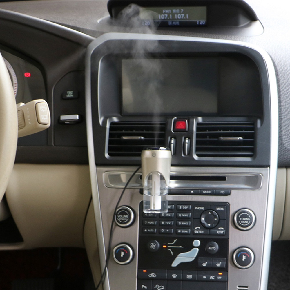 Image 2 - Car Air Purifier BC20 Atomized And Humidified Double USB Vehicular Rechargeable Air Humidifier Car Air Ionizer-in Car Air Humidifier from Automobiles & Motorcycles
