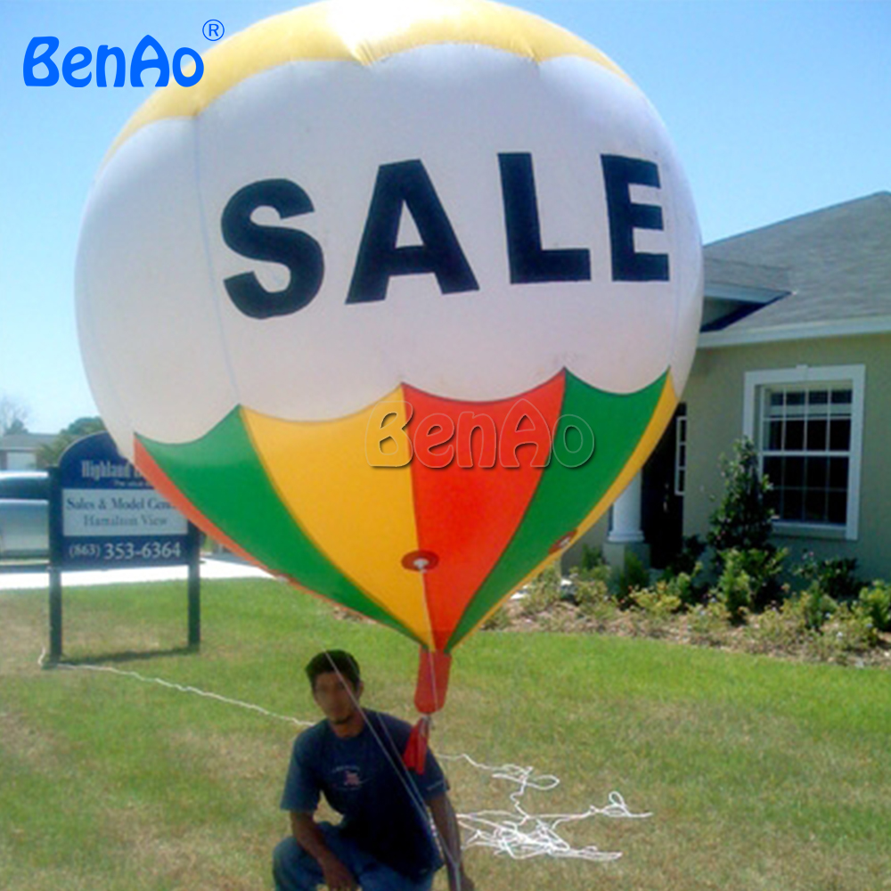 AO066 Free shipping 2.5mH 0.18mm PVC giant inflatable advertising floating helium balloon/ inflatable hot air balloon for sale