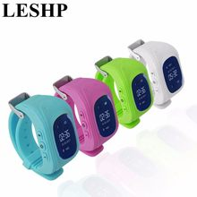LESHP Smart Watch Children Kid Wristwatch Q50 GSM GPS GPRS Locator Tracker Anti-Lost Smartwatch for iOS Android pk mi band 2(China)