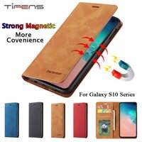 Étui pour samsung S10 Plus S10 E S10e portefeuille magnétique à rabat en cuir de luxe porte-carte support de protection pour Galaxy S10plus Etui