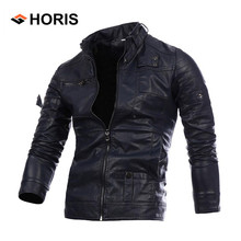 2017 Newest Men Motorcycle Bike Bomber Leather Jackets Autumn Winter Casual Coat Male Bussiness Coat H413