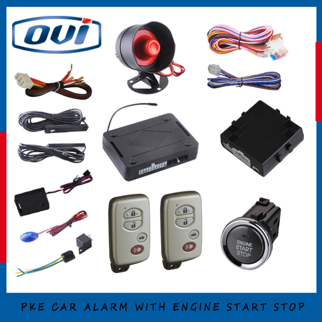 Auto car engine start stop system working with remote keyless entry ...