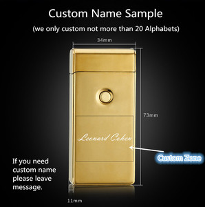 Image 3 - Signature Custom Name USB Lighter Personl Rechargeable Electronic Lighter Cigarette Plasma Personal Cigar Lighter Dual Arc Palse