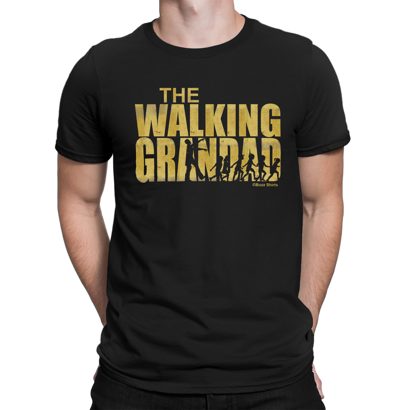 The WALKING GRANDAD Mens T-Shirt Dead Birthday Fathers Day Grandfather Hot New 2018 Summer Fashion T Shirts
