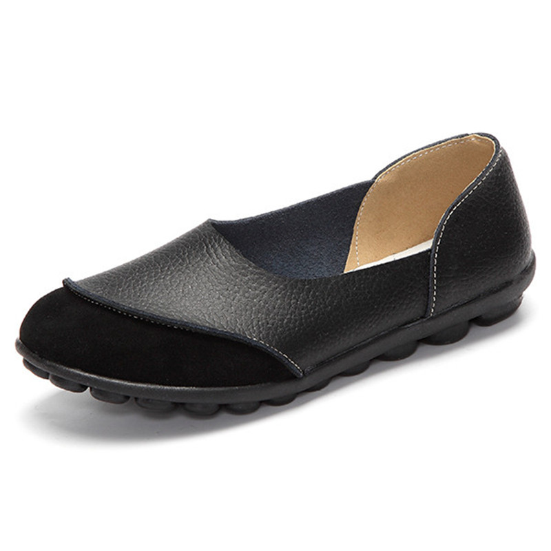 Women Loafers High Quality Leather Soft Sole Flats Ladies Woman Pea Pea Shoes Casual Slip On Flat Driving Shoes Spring Autumn дефлектор капота autofamily sim темный toyota corolla 2000 2006 fielder allex runx 2000 2003 nld stocor0012