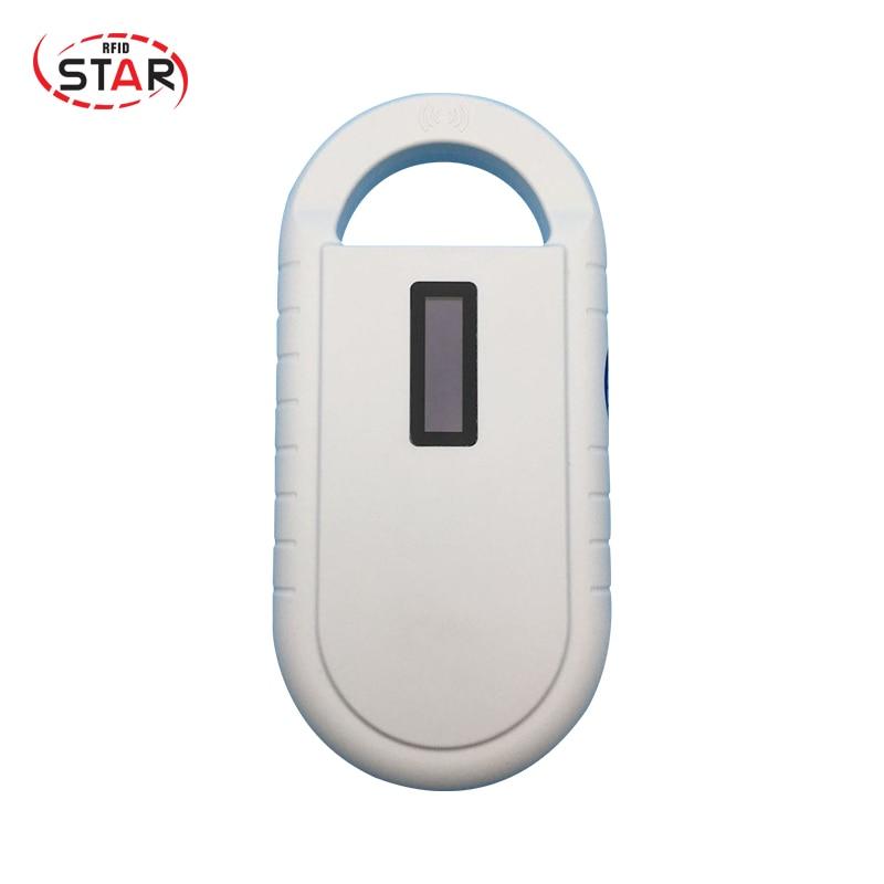 RFID Animal ID Tag Reader 134.2KHz ear tag reader pet chip reader ISO11785/84 FDX-B Portable Pet Microchip Scanner