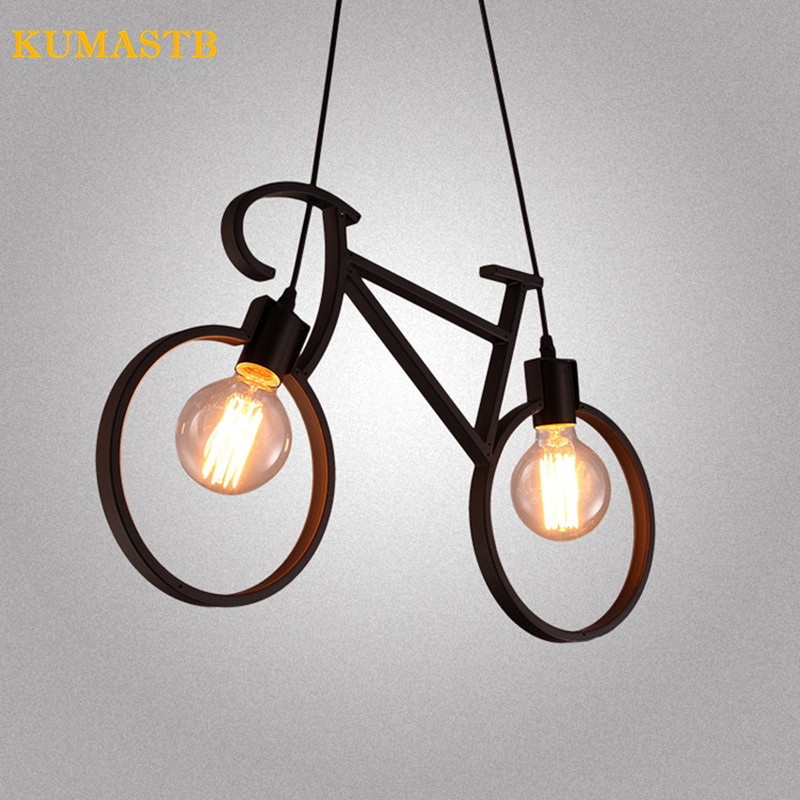 Loft Retro Bicycle Pendant Lamp Nordic Modern Iron Bicycle Pendant Light Cafe Bar  Bedroom LED Droplight Lighting Fixture Loft Retro Bicycle Pendant Lamp Nordic Modern Iron Bicycle Pendant Light Cafe Bar  Bedroom LED Droplight Lighting Fixture