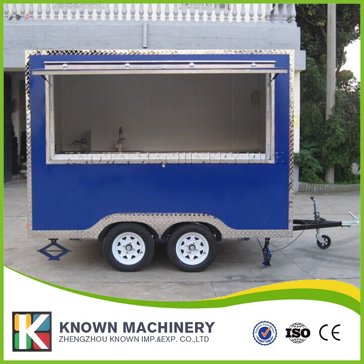 Customizable popular KN-300 EXW PRICE mobile food truck street food tralier and food ven for sale with free shipping