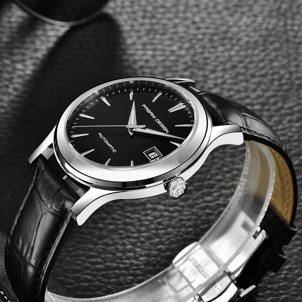 HTB1ifhNKr5YBuNjSspoq6zeNFXaj 2019 new Ultra-thin simple classic men mechanical watches business waterproof watch luxury brand genuine leather automatic watch