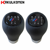 Real Leather 5 6 Speed Car Gear Shift Knob With M Color For BMW 1 3