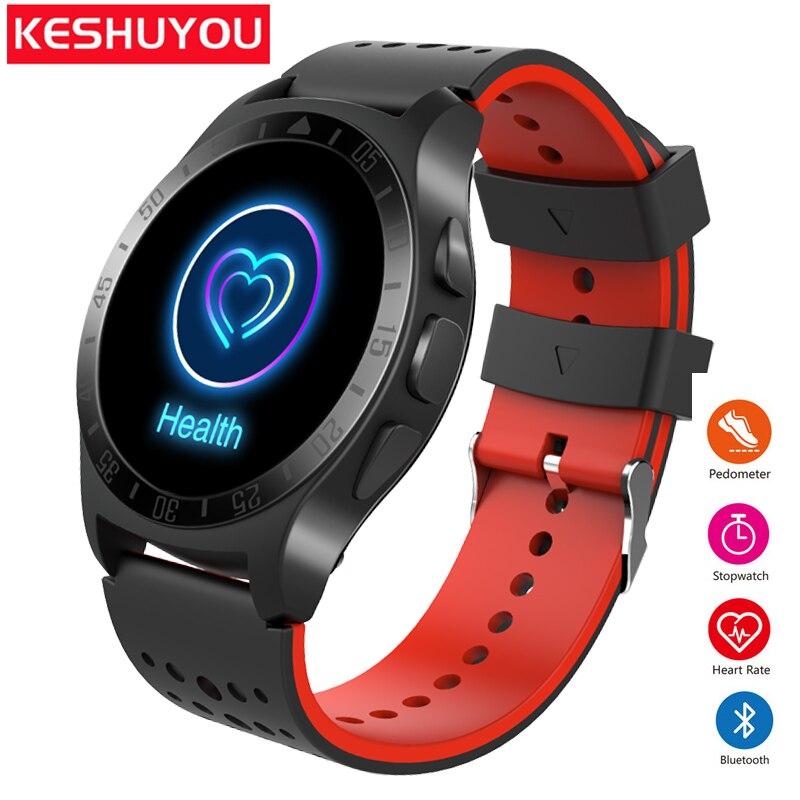 KESHUYOU KY009 Bluetooth smartwatch android сердечного ритма smart watch мужчины часы трекер шагомер часы телефон Носимых устройств