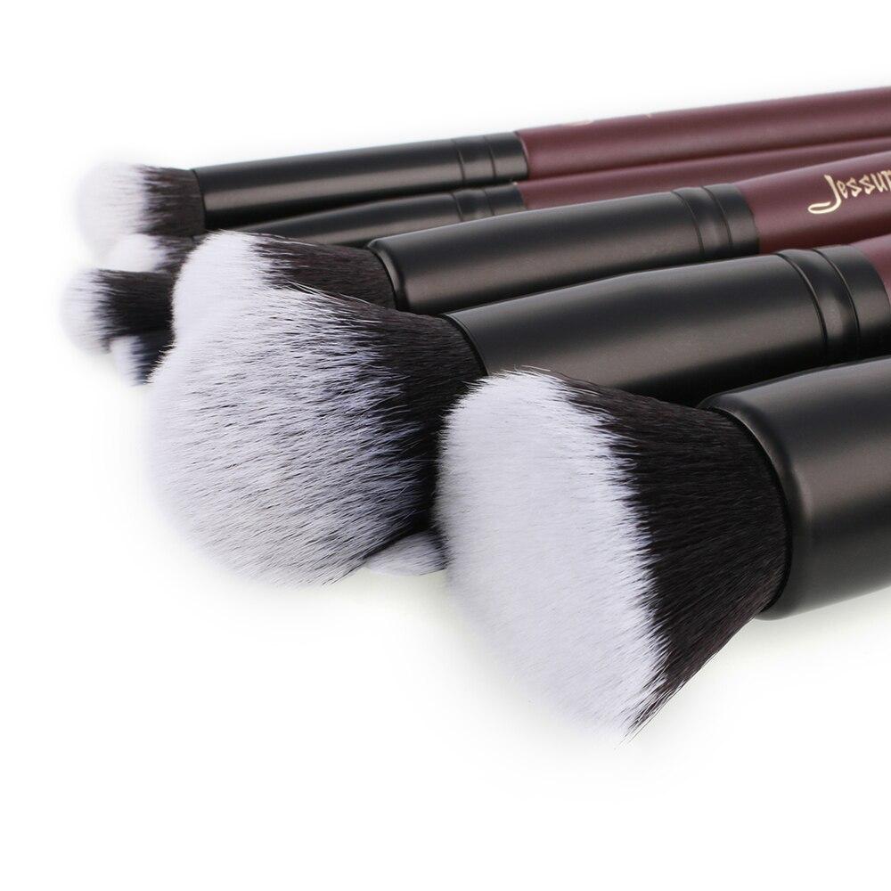 Image 2 - Jessup brushes 10pcs/set Plum Makeup brushes Cosmetic tools Make up brush set blend foundation eyeshadowEye Shadow Applicator   -