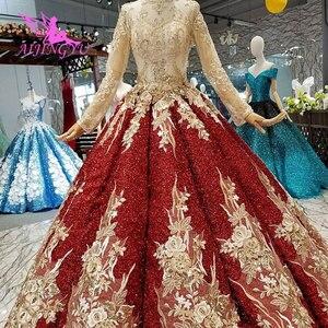 Image 3 - Aijingyu Trouwjurken 2021 2020 Plus Size Online Jassen Met Prijs Lace Sexy Portugees Gown Lange Koord Kant Voor Bruiloft jurk