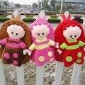Super! atacado 35 cm * 30 cm jardim Bebê Mochila De Pelúcia brinquedo de pelúcia de presente de Natal das crianças frete grátis