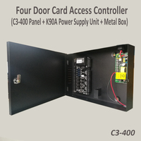 ZK C3 400 Tcp/Ip Four door Rfid Access Control System IP based Four Door Access Controller with back up battery function power