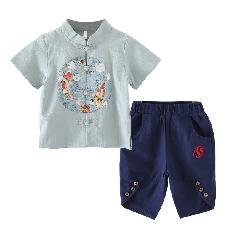 Cotton and hemp childrens traditional Chinese school clothes for boys 1886353133Cotton and hemp childrens traditional Chinese school clothes for boys 1886353133