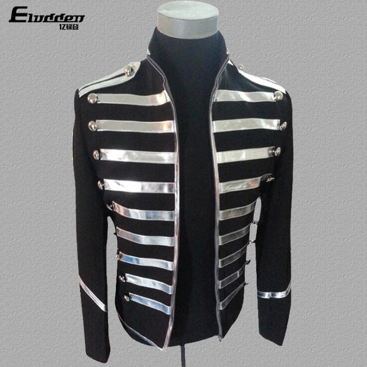 Blazer Costumes Montant De Homme Conceptions argent Vêtements Terno Les Col Scène Hommes Or Masculino Chanteurs Pour Cour Danse Personnels Veste TnSYx68