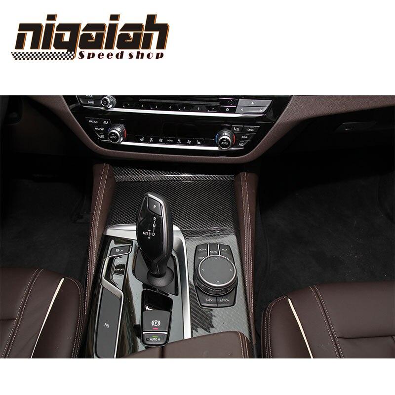9 pcs a Set Only Left Hand Drive Gloss Black Carbon Trim For BMW 5 Series G30 G38 2017 Carbon Fiber Interior Trim Cover 2017