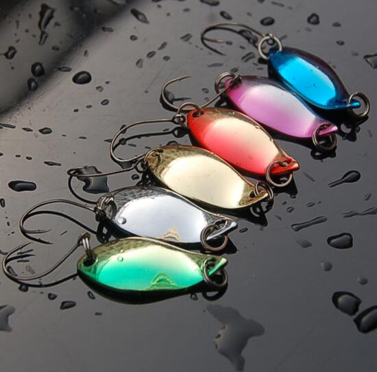 2.5g spoon fishing lure 6pcs/lot isca artificial metal bait swimbait trout lure fishing spinner blade lure
