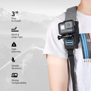 Image 4 - TELESIN 2018 New Universal Quick Release Strap Mount Adjustable Shoulder Backpack Pad Holder for GoPro Hero 7 6 5 4 3 SJCAM EKEN