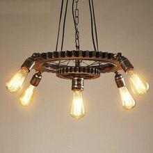 В стиле лофт креативный деревянный для переключения скоростей точечная эдисоновская подвесной светильник светильники для столовой подвесной светильник винтажное промышленное освещение