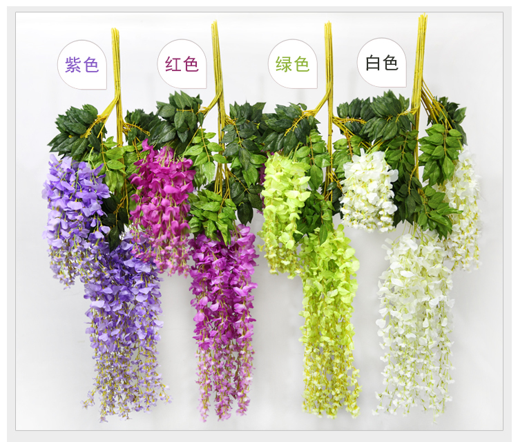 Hot sale 110cm 4colors silk wisteria flowers vine home hotel decor hot sale 110cm 4colors silk wisteria flowers vine home hotel decor hanging artificial plant garland wedding party decoration in artificial dried flowers mightylinksfo Choice Image