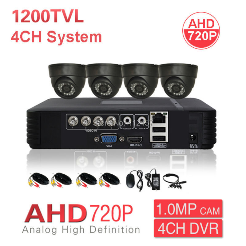 Home CCTV Indoor AHD 720P Dome Security Camera System 4CH HD DVR PC Mobile Phone Remote View P2P 1200TVL Video Surveillance Kit штатив benro t 800ex
