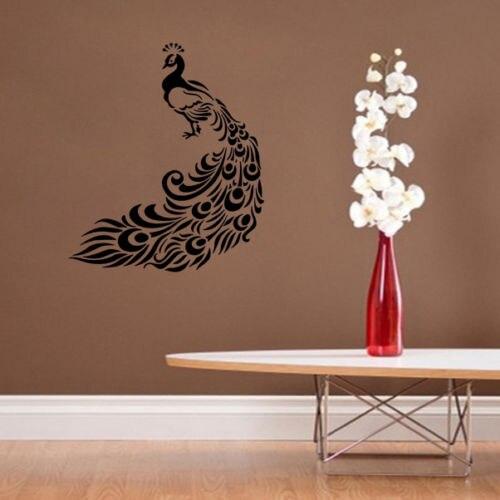 peacock wall decors animals wall decals bedroom bird wall decal home decors free shippingchina - Wall Decors
