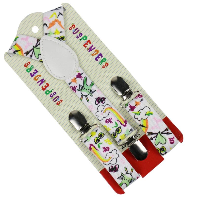 Winfox Fashion Cloud Heart Skull Suspenders Boys Girl Kids Elastic Suspenders Adjustable Braces Suspoenders Shirt