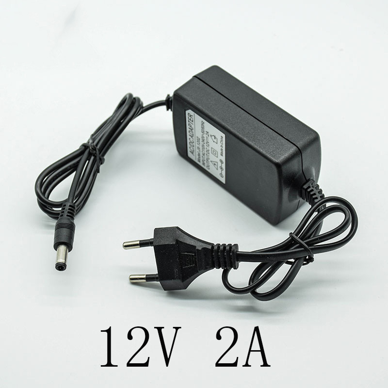 New 110-240V AC Converter <font><b>Adapter</b></font> DC <font><b>12V</b></font> 2A/<font><b>2000mA</b></font> <font><b>Power</b></font> Supply Charger EU Plug 5.5mm * 2.5mm(2.1mm) two lines image