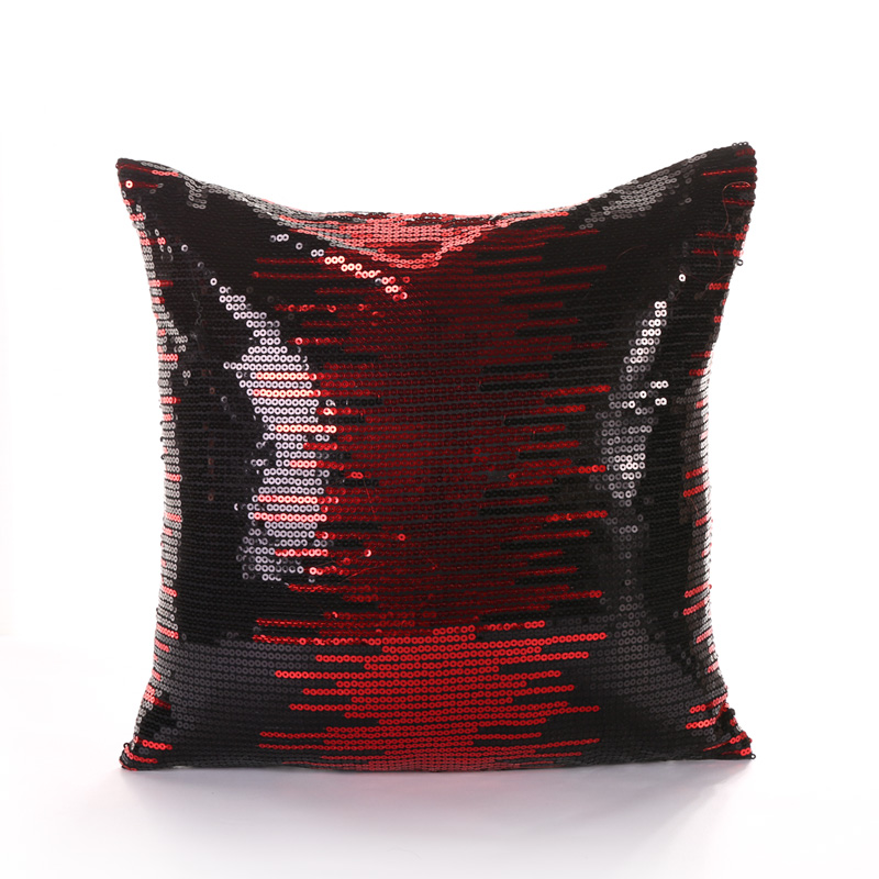 PANFELOU 45*45cm environmental Wine red sequins meteor shower Cushion Cover for sofa livingroom bedroom