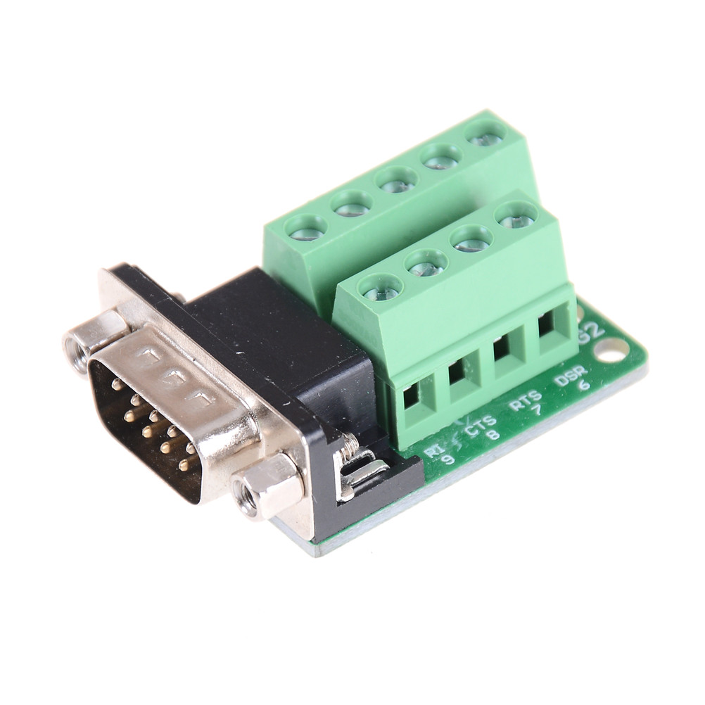Conector DB9 RS232 D-Sub Hembra Adaptador de Puerto de 9 Pines a Conector de Terminal m/ódulo de se/ñal con Funda Conector Hembra, DB9 5+5 con Funda A