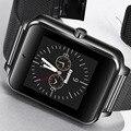 2018 Edelstahl Mode Smart Uhr Telefon Beantwortung Informationen Erinnern OLED Farbe Touchscreen Smartwatch Reloj inteligente