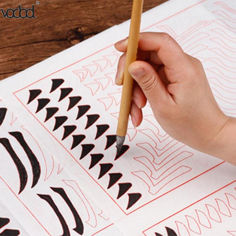 Bamboo Calligraphy Writing Pen Artist Chinese Ink Painting Goat Hair Brush Pens Kids Learn Stationery Tools School Supplies HOT