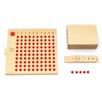 Montessori Mathematics Multiplication Division Board Math Plate Teaching Early Learning Educational Toys For Kids