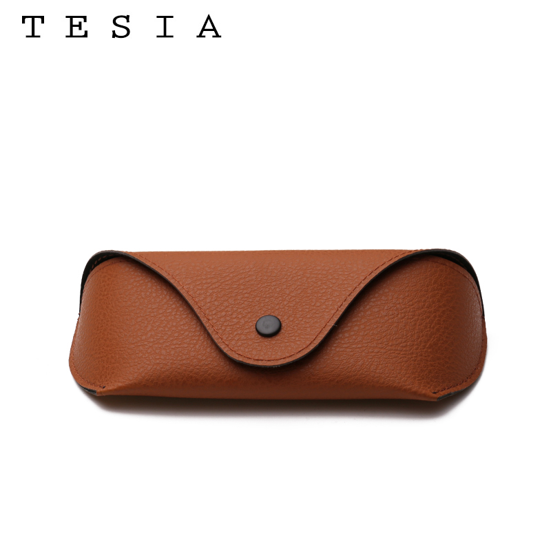 Classic Vintage Glasses Case Durable Button Litchi Texture Glasses Box For Sunglasses Eyeglasses Holder Wholesale Customization