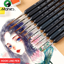 1Piece Different Size Weasel Hair Hook Line Pen Fine Paint Brush Set Artist Gouche Watercolor Acrylic Painting Brush Art Supply 6pcs set watercolor brush weasel hair aquarelle paintbrush wooden handle artist paint brushes diamond shape hook line pen