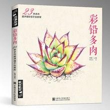 Nuevo Color pencil basics tutorial Book: aprender a 23 estilo suculentas art book