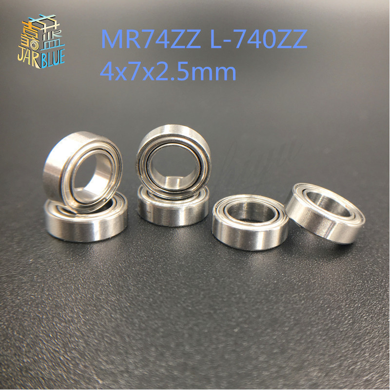 Free shipping 10PCS mini bearing MR74ZZ L-740ZZ 4x7x2.5mm bearings P5 MR74 ZZ 4*7*2.5 deep groove ball bearings free shipping 25x47x12mm deep groove ball bearings 6005 zz 2z 6005zz bearing 6005zz 6005 2rs