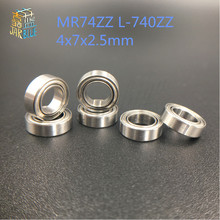 Free shipping 5/10PCS mini bearing MR74ZZ L-740ZZ 4x7x2.5mm bearings P5 MR74 ZZ 4*7*2.5  deep groove ball bearings